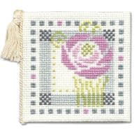 Mackintosh Rose Counted Cross Stitch Needle Case Kit